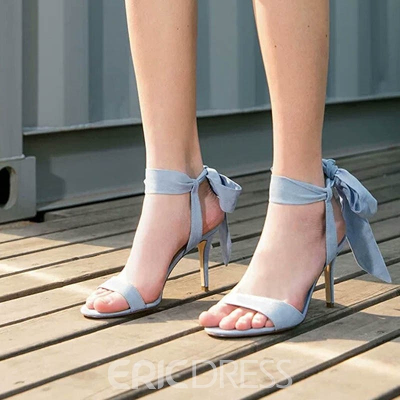 Ericdress Faux Suede Stiletto Heel Ankle Strap Women's Sandals