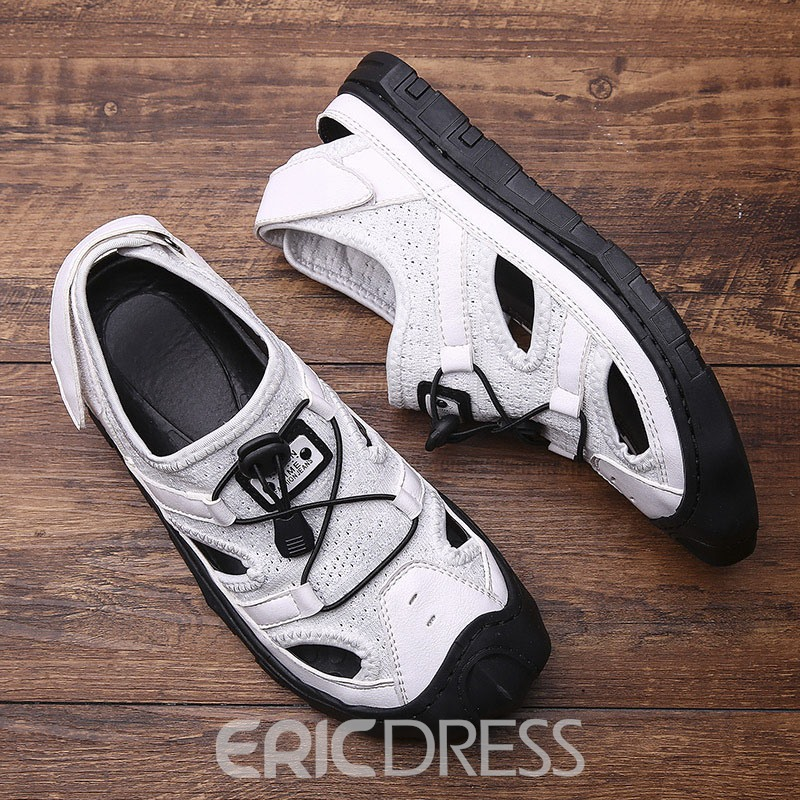 Ericdress Patchwork Velcro Round Toe Men's Sandals