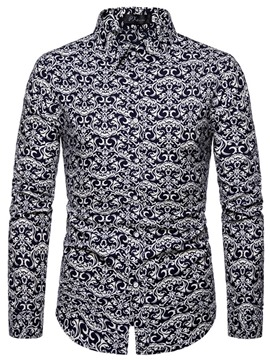 Ericdress Casual Button Mens Slim Shirt