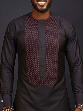 Ericdress African Fashion Patchwork Mens Color Block T-shirt