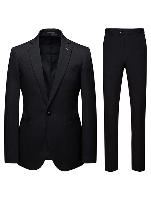 Ericdress One Button Button Pants Mens Dress Suit