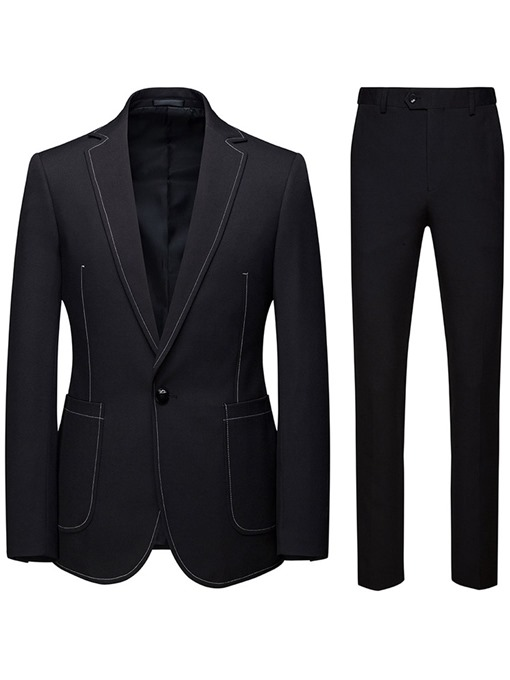 Ericdress Pants Fashion Color Block Mens Dress Suit
