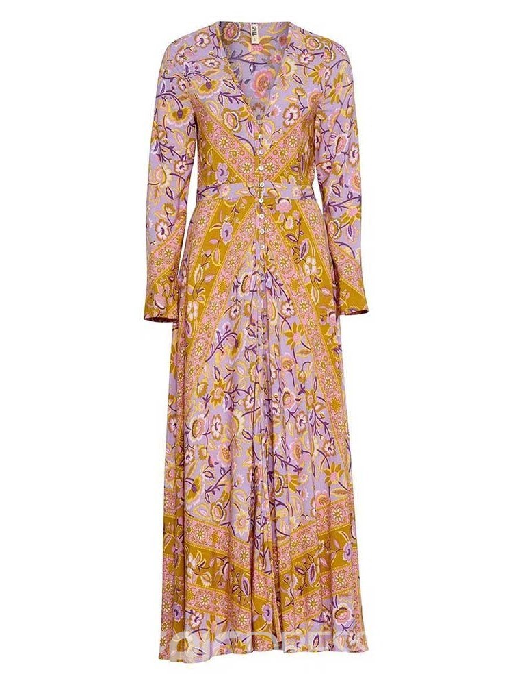 Ericdress African Fashion Split Expansion Floral Dress