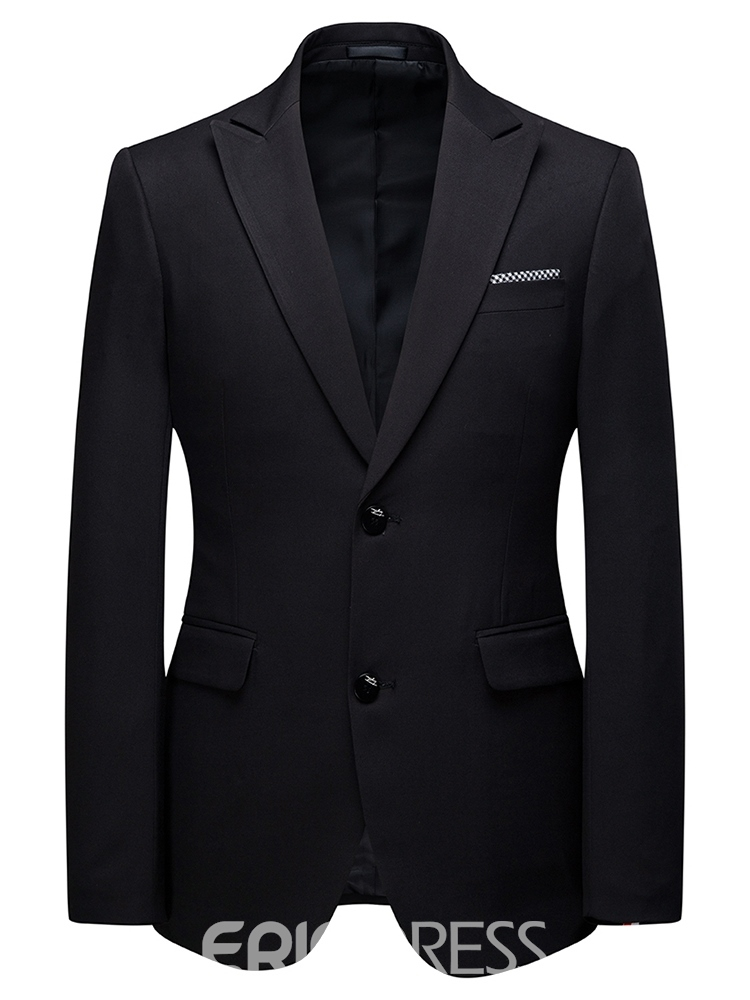 Ericdress Blazer Single-Breasted Pocket Mens Dress Suit