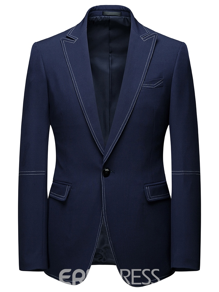 Ericdress Color Block One Button Zipper Mens Dress Suit