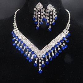 ohrringe halskette european floral jewelry sets (hochzeit)