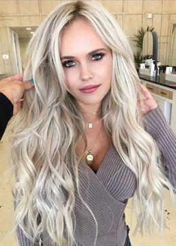Ericdress Women's Body Wave Blonde Long Synthetic Hair Wigs Lace Front Cap Wigs 24 Inches