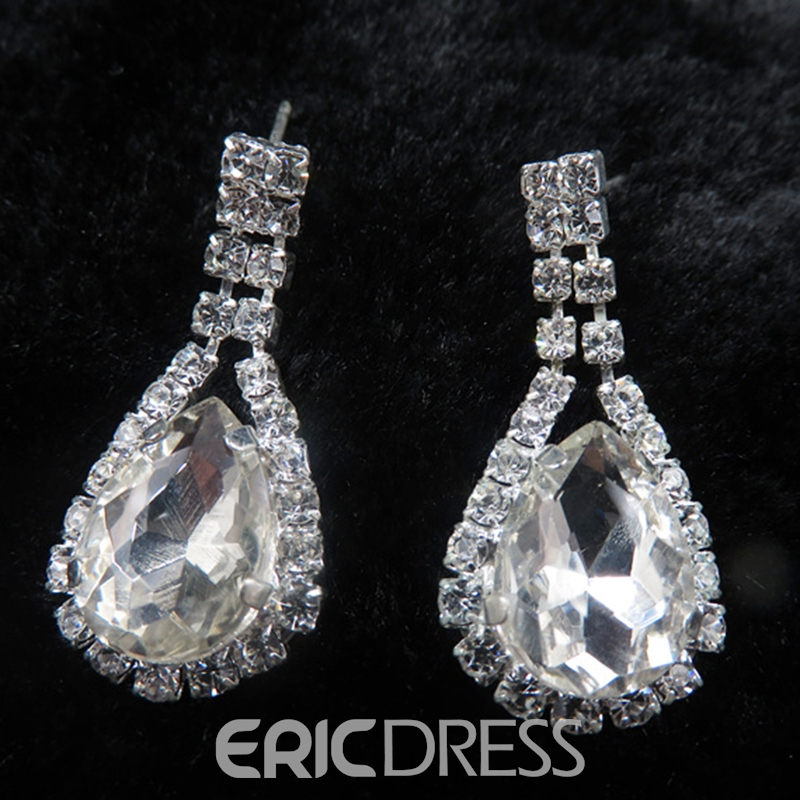 Water Drop European E-Plating Jewelry Sets (Wedding)
