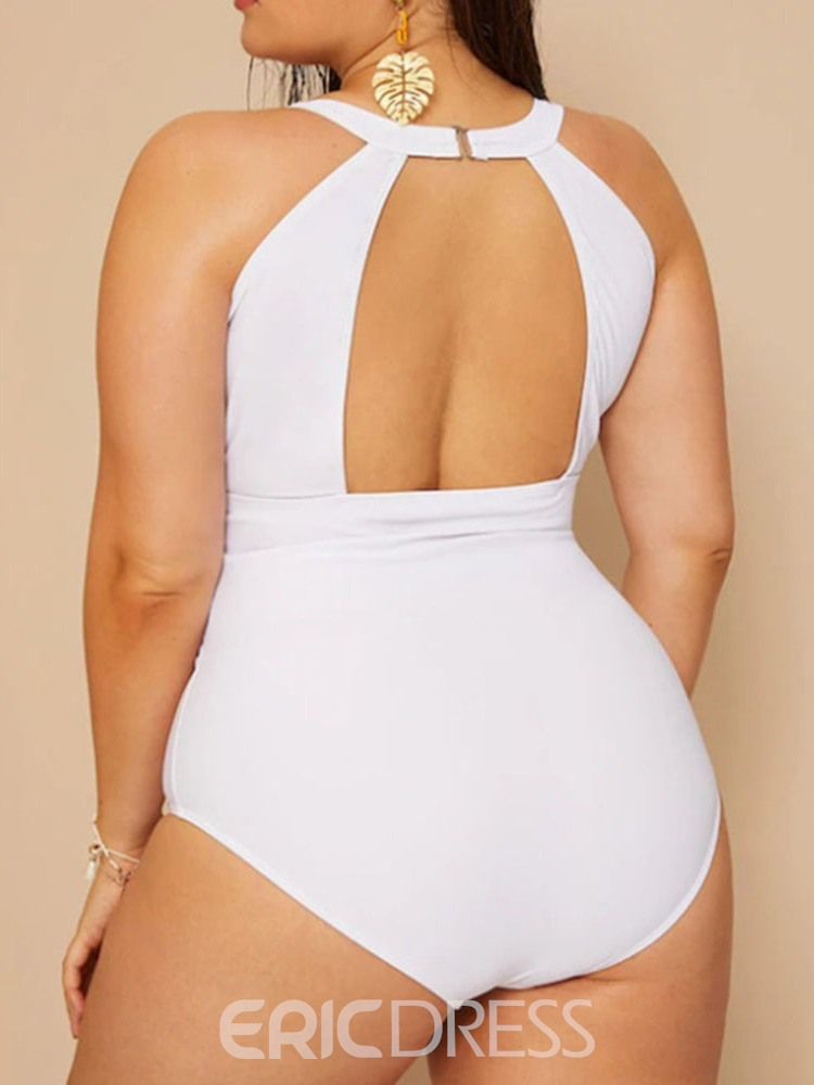 Ericdress Plus Size Patchwork Backless Swimwear