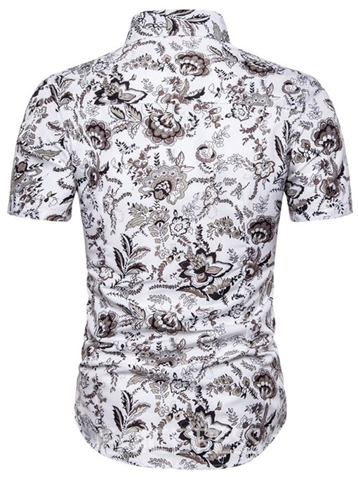 Ericdress Print Casual Mens Single-Breasted Shirt