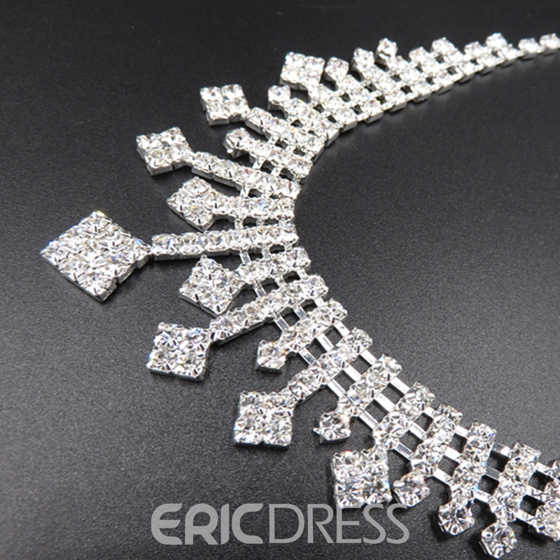Earrings Korean Diamante Jewelry Sets (Wedding)