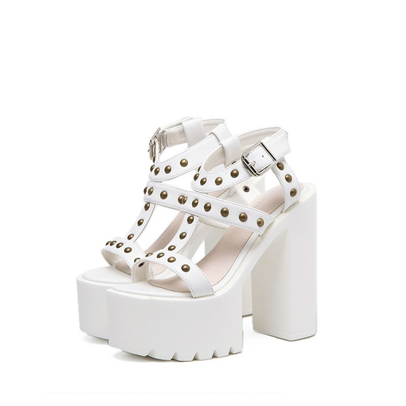 Ericdress Rivet Chunky Heel Women's Sandals