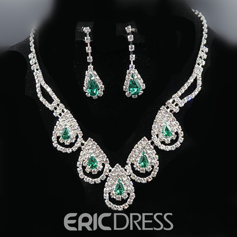 Earrings Rhinestone E-Plating Korean Jewelry Sets (Wedding)