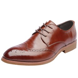 Ericdress Plain Hollow Round Toe Lace-Up Mens Oxfords