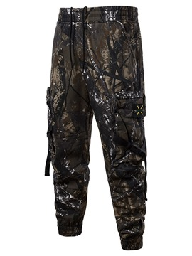 Ericdress Camouflage Thin Pocket Four Seasons Mens Casual Pants