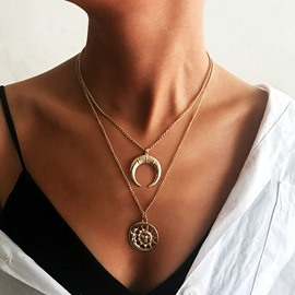 Ericdress Moon Pendant Necklace
