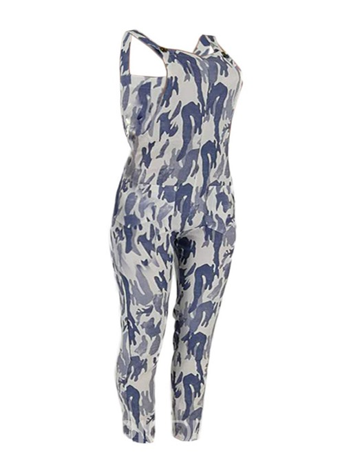 Ericdress Print Ankle Length Loose Jumpsuit(Without T-Shirt)