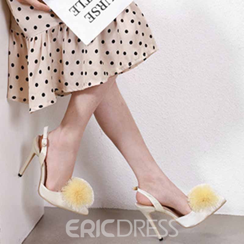 Ericdress Slingback Strap Stiletto Heel Buckle Women's Sandals