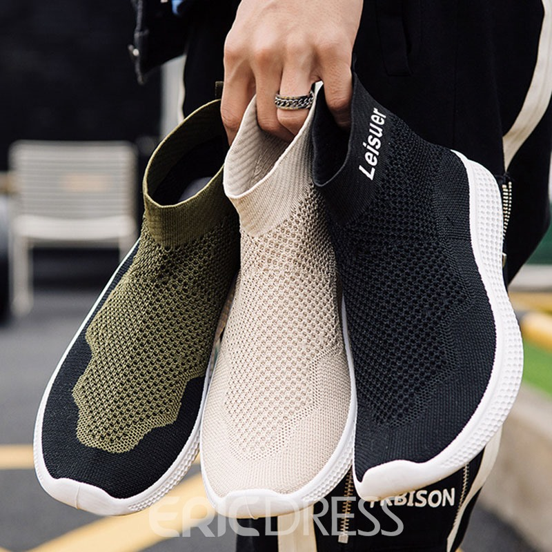 Ericdress Mesh Slip-On High-Cut Upper Men's Sneakers