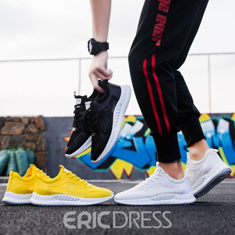 Ericdress Mesh Lace-Up Low-Cut Upper Men's Chic Sneakers