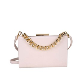 Ericdress Chain Plain PU Flap Crossbody Bag