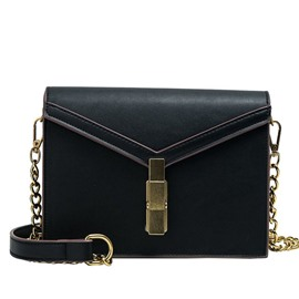 Ericdress Plain PU Thread Envelope Crossbody Bag