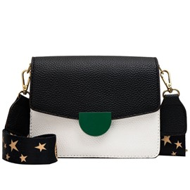 Ericdress Thread PU Square Star Crossbody Bag