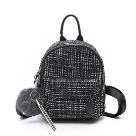 Ericdress Plaid Thread Wool Blends Backpack