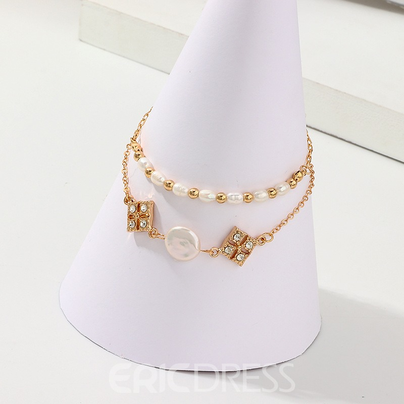 Ericdress Diamante Sweet Peal Bracelet