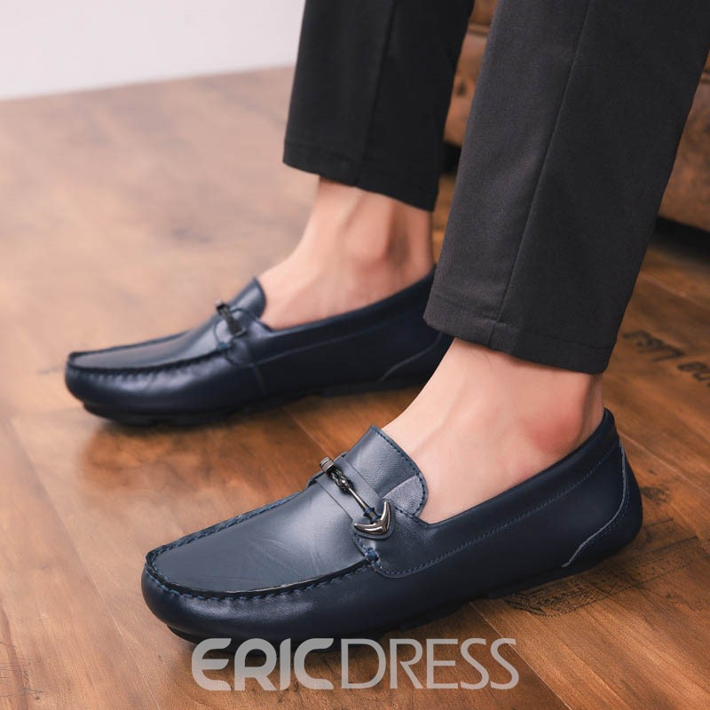 Ericdress PU Comfortable Round Toe Slip-On Men's Casual Shoes