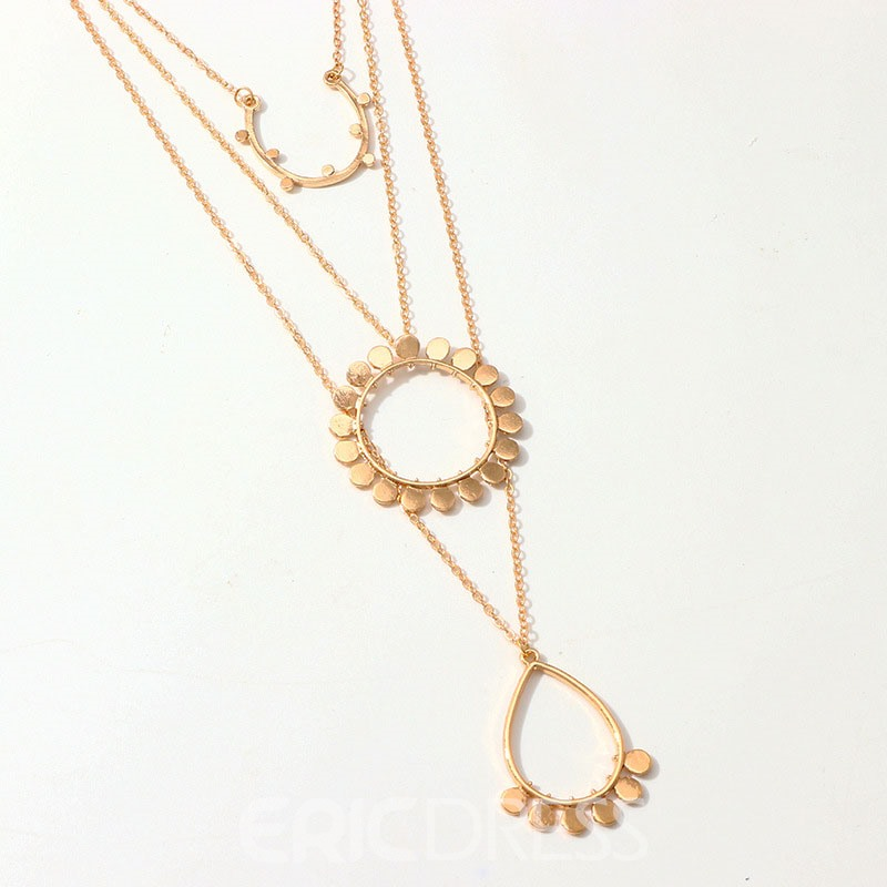 Ericdress Plain Hoop E-Plating Female Necklace