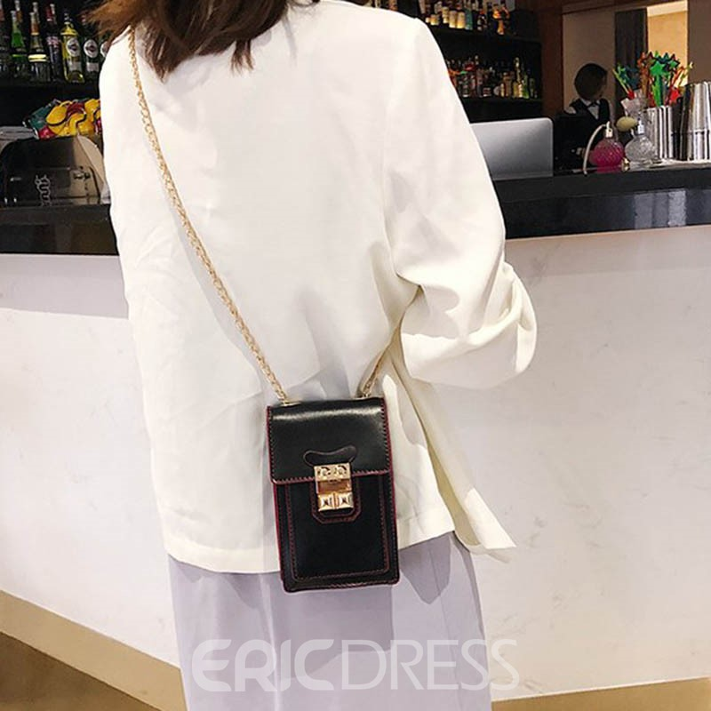 Ericdress Small Square Single Shoulder Lock Crossbody Bag