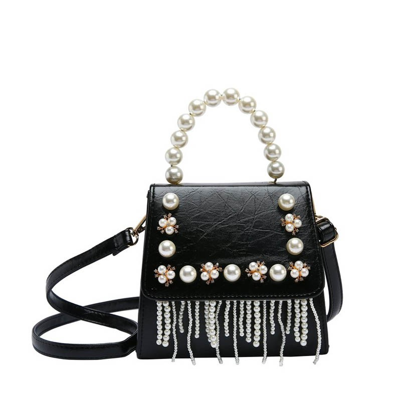 Ericdress Plain Pearl Tassels Thread Rectangle Tote Bag