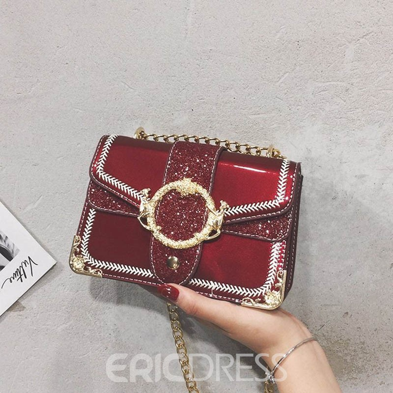 Ericdress Chain PU Hoop Crossbody Bag
