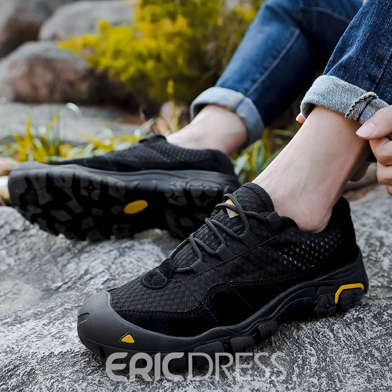 Ericdress Mesh Lace-Up Round Toe Men's Outdoors Sneakers