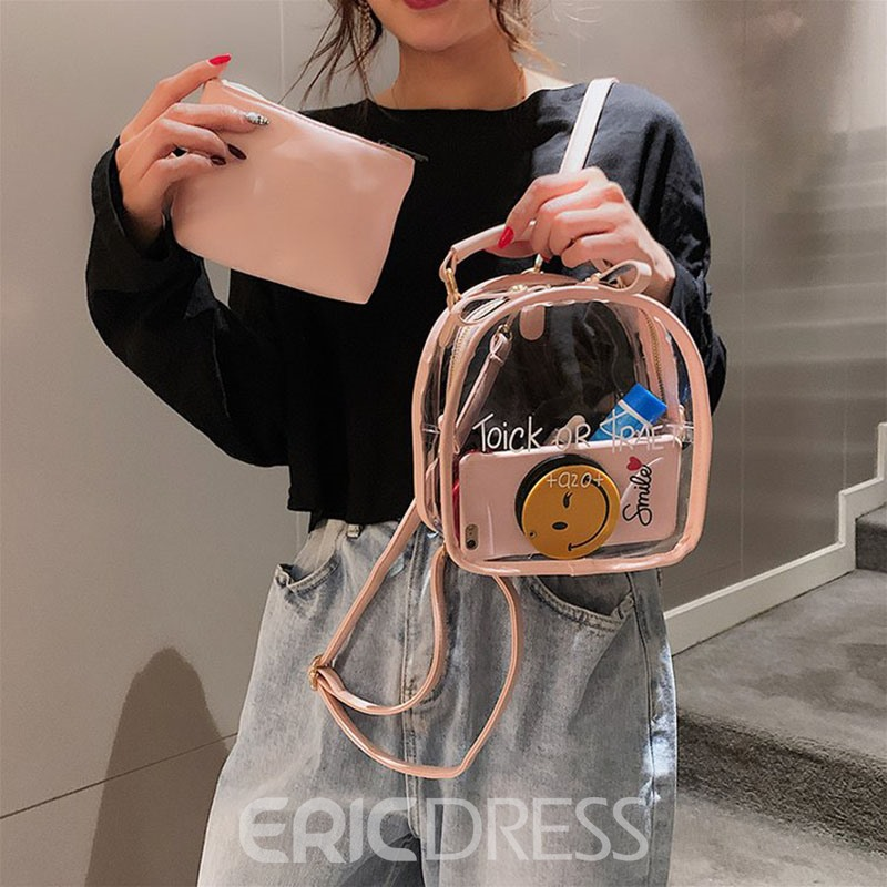 Ericdress PU Transparency Letter Tote Bag