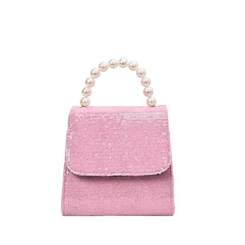 Ericdress PU Sequins Plain Paillette Crossbody Bag