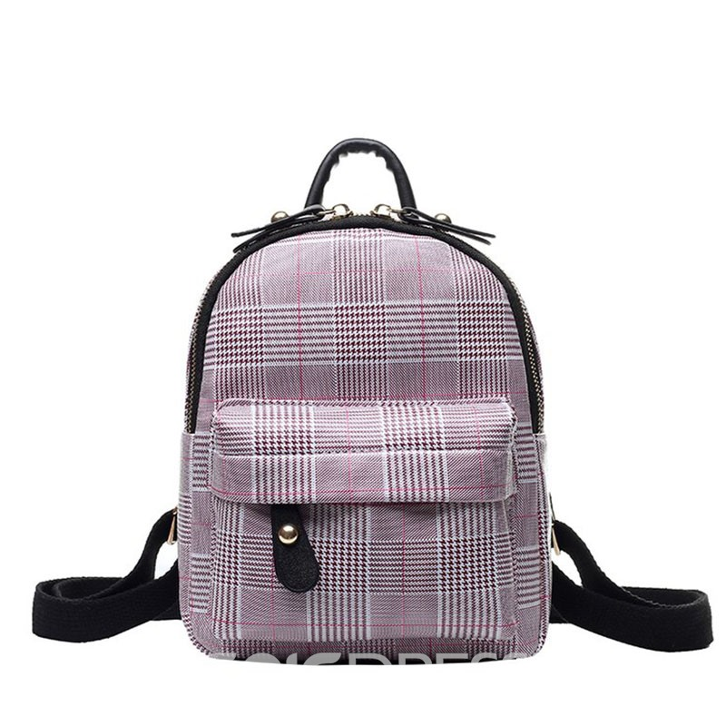 Ericdress Thread PU Houndstooth Backpack