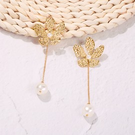 Ericdress Alloy Plain Flower Earrings