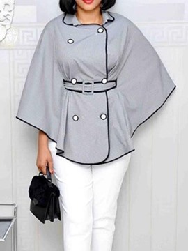 Ericdress Double-Breasted Plain Polyester Women's Cape