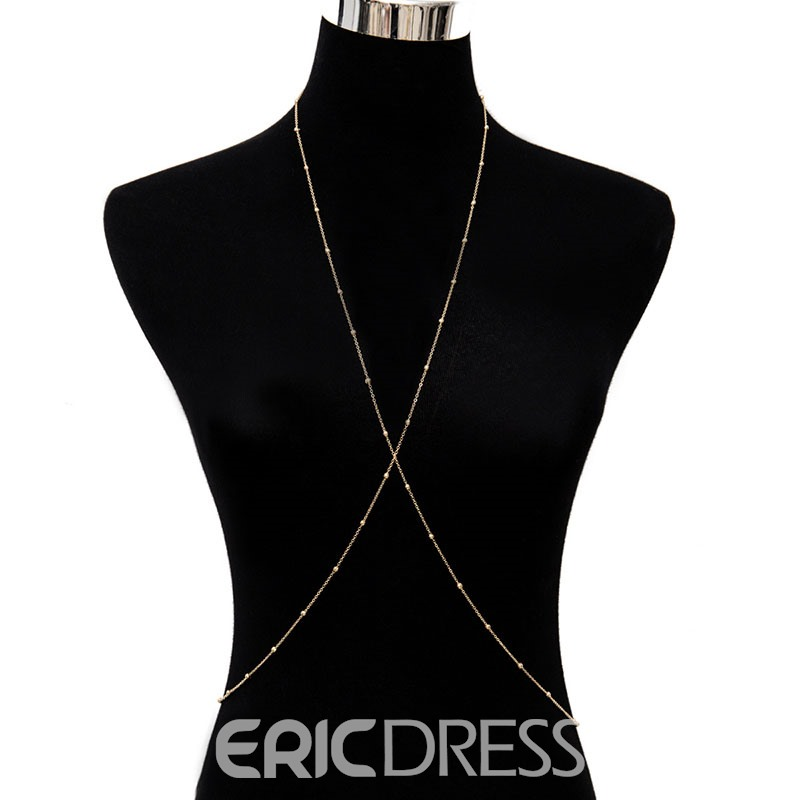 Ericdress Cross Body Chain Female Necklace