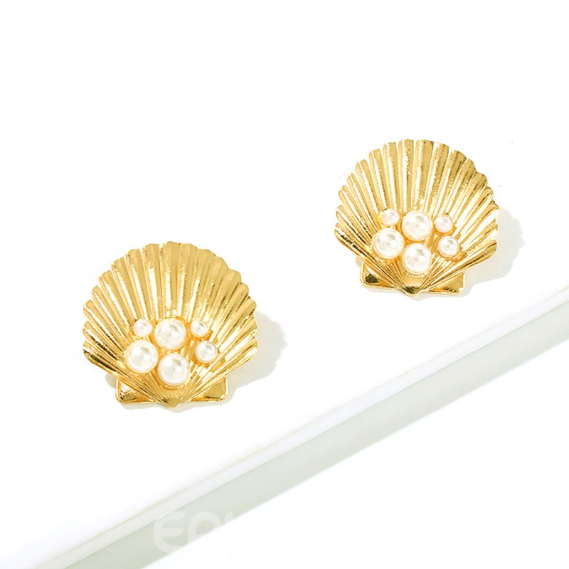 Ericdress Alloy Pearl Inlaid Style Earrings