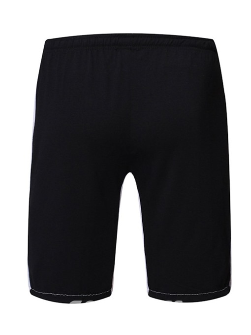 Ericdress Color Block Pleated Loose Lace-Up Mens Casual Shorts