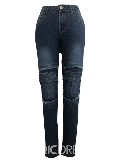 Ericdress Pocket Zipper Pencil Pants Skinny Jeans