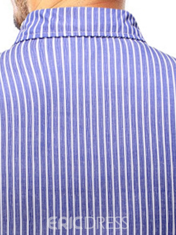 Ericdress Fashion Button Stripe Mens Single-Breasted Shirt