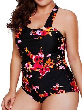 Ericdress Plus Size Floral Print Stretchy Fashion Swimwear