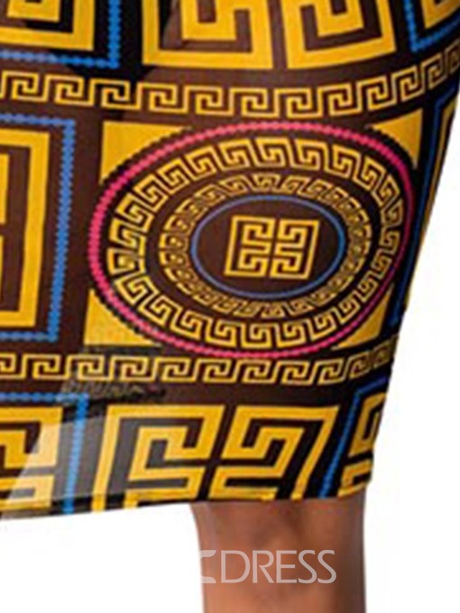 Ericdress African Fashion Sheath Knee-Length V-Neck Dress