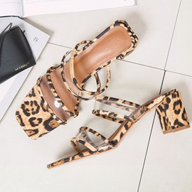Ericdress Leopard Print Stiletto Heel Slip-On Women's Mules Shoes