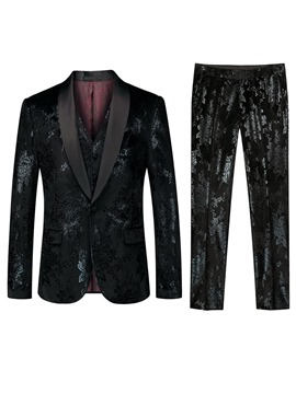 Ericdress Pants Button Fashion Mens 3-Piece Dress Suit