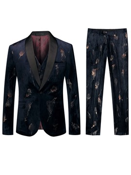 Ericdress One Button Fashion Mens 3-Piece Dress Suit